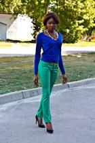 BRN pants - H&M cardigan - Velentino heels