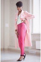 bubble gum Sheinside coat