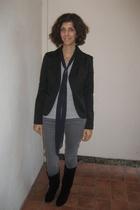 JLo blazer - Lux jeans - Aldo shoes