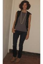 Forever21 vest - J Brand jeans