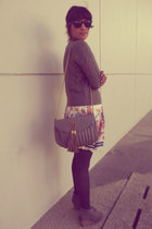 Aldo bag - Ray Ban sunglasses - Forever New skirt - knitted Edgars jumper