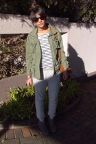 military Primark jacket - leopard print Forever New bag - Ray Ban sunglasses - b