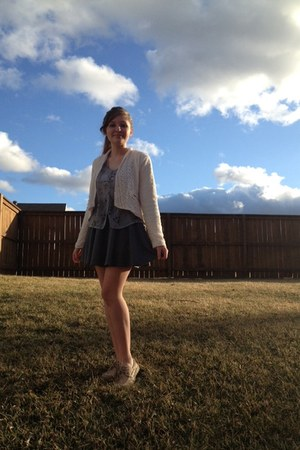 circle skirt handmade skirt - lace Target blazer - Sperrys loafers