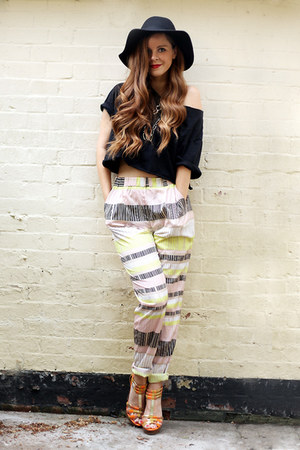 printed Soaked in Luxury pants - baggy crop tee DIY t-shirt