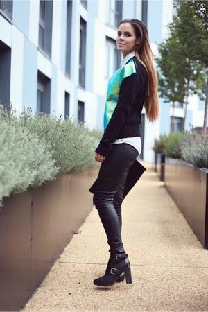 aquamarine Milly NY sweater - black Bracher Emden bag - black Topshop pants