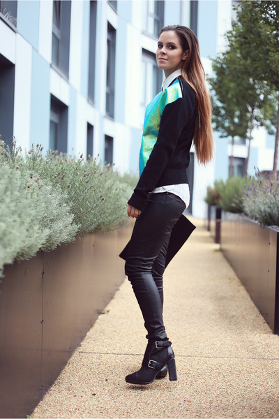 aquamarine Milly NY sweater - black Bracher Emden bag - black Topshop pants