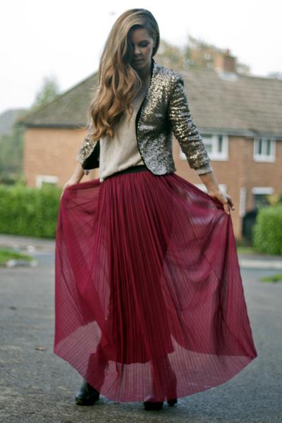 Love skirt - gold sequin JARLO blazer