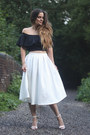 Ivory-missguided-skirt-black-missguided-top