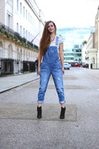 black ankle boots next boots - blue dungarees asos romper