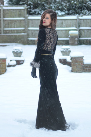 black lace back JARLO dress