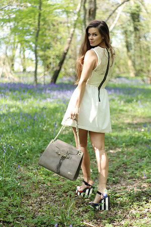 ivory Hedonia dress - heather gray Florian London bag