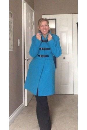 blue buckle detail TK Maxx UK coat