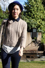Light-brown-ankle-dolce-vita-boots-navy-cigarette-uniqlo-jeans