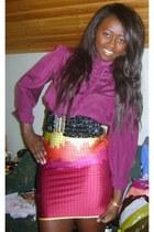 vintage shirt - Addidas skirt