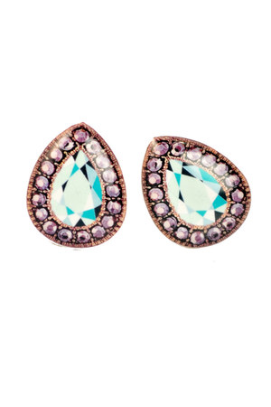 aquamarine plastic Ditty Drops earrings