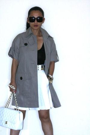 Chanel - Club Monaco skirt - BCBG belt - Club Monaco shorts - Club Monaco coat -