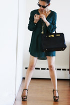 Vintage costume dress - Prada shoes - Hermes bag