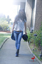 Forever 21 jeans - Forever 21 shirt - sam edelman boots - Marc Jacobs bag - wilf