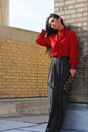 Zara shirt - Zara skirt - Club Monaco bag