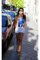 Bershka jacket - asos bag - Stradivarius shorts - Lefties t-shirt