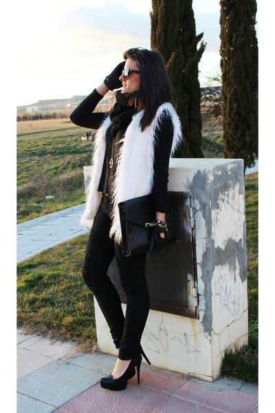 Zara shirt - Parfois bag - Stradivarius pants - pull&bear vest