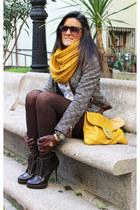 Primark scarf - Bershka shoes - Zara jacket - asos bag