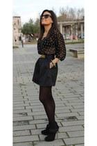 Zara jacket - H&M shirt - Parfois bag - Zara belt