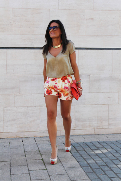 Zara bag - Zara shorts - Zara blouse - Zara heels
