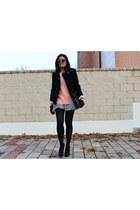 Zara coat - Lefties sweater - Zara skirt