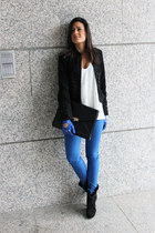 Zara blazer - Zara shirt - Bershka pants - Dayaday gloves