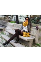 asos bag - Bershka boots - Zara jacket - Primark scarf - Stradivarius shorts