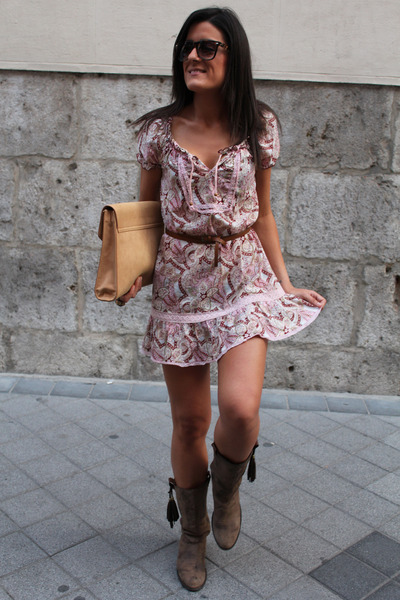 Pimkie boots - suiteblanco dress - Zara bag