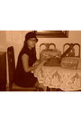 Forever-21-hat-thrift-store-dress-classic-shoulder-pad-purse-purse-thrifte