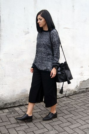 black BNKR sweater - black Daphny Raes bag - black HEIM pants