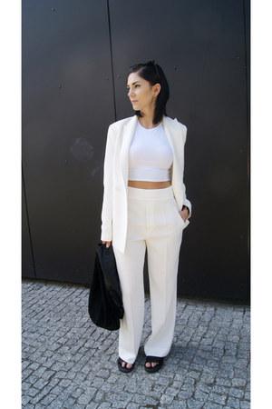 white Jessica Buurman jacket - black Zara shoes - black Mango bag