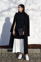 black Sheinside coat - black Just Female via Monomin bag - black Zara blouse