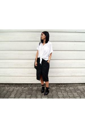 black Choies shoes - white Arthur shirt - black markberg bag