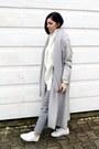 White-zara-shoes-silver-sheinside-coat-white-sheinside-sweater