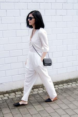 black Zara shoes - black Erin Templeton bag - black rayban sunglasses