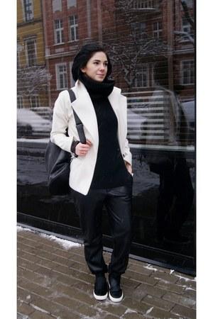 black pony hair Choies shoes - white StyleMoi jacket