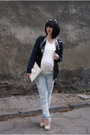 Black-leather-jacket-h-m-jacket-white-cubus-sweater-white-zara-bag