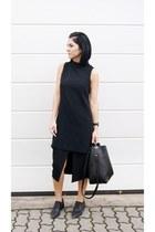 black reserved shoes - black jcosstudio bag - black Zara skirt