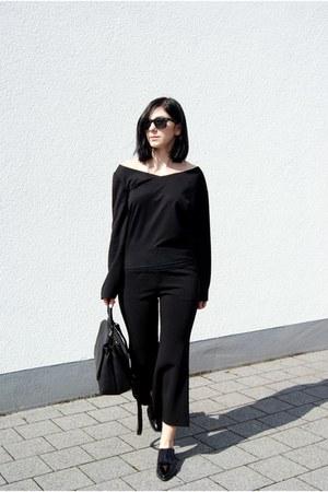 black asos shoes - black markberg bag - black Nicole Vienna watch