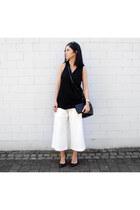 black Nakedvice bag - white Alphabe the label pants - black Mango top