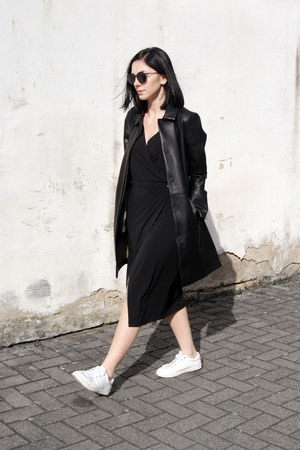 black Stay Sunny Chicago dress - white Zara shoes - black Mango jacket