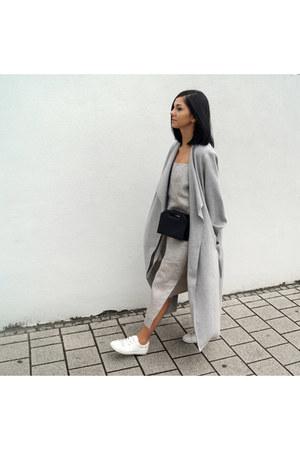 silver Studio August dress - white Zara shoes - silver Mango coat