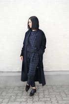 navy Silvae coat - black Emily Cho bag - navy checked Paisie pants