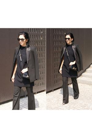 black Mango jacket - black MslittlesBag bag - black Ray Ban sunglasses