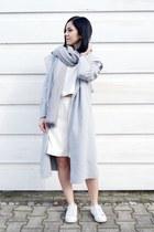 heather gray just female coat - silver Jessica Buurman coat