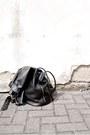 Black-h-m-shoes-black-markberg-bag-white-neville-shorts-white-nevillee-top
